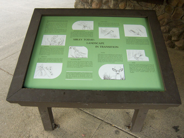 sibley interactive displays, sibley volcanic preserve