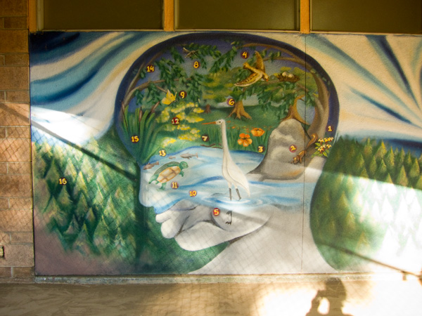 dimond recreation center, dimond park, sausal creek mural