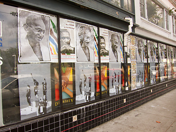 mural of civil rights posters, celebrate diversity
