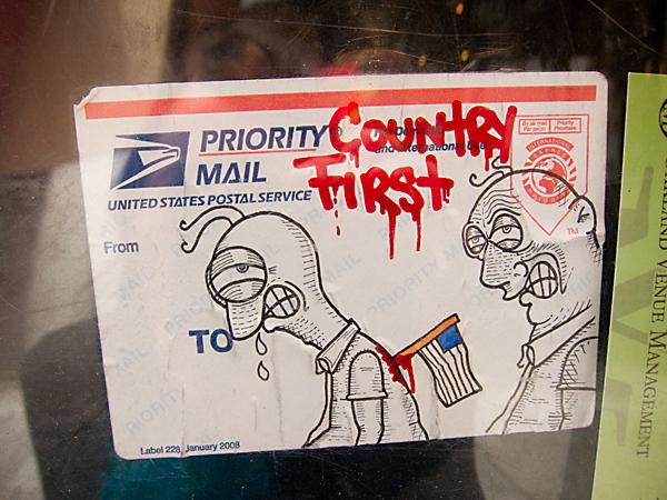 oakland graffiti, graffiti stickers, USPS stickers