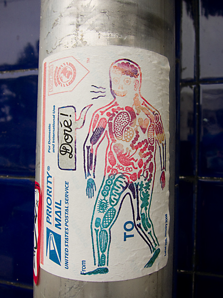koleo stickers, doré sticker, man with organs sticker, koleo