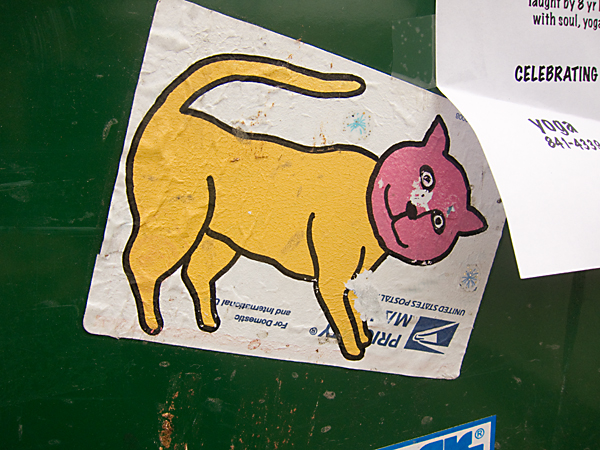 Koleo sticker, Koleo cat, koleo, east bay sticker art
