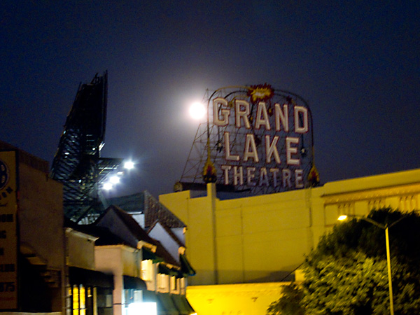 full moon over grand lake theater