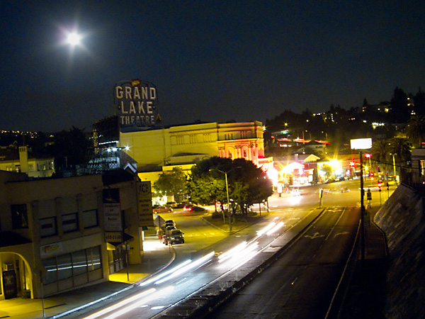 full moon, grand lake theater, 580 freeway