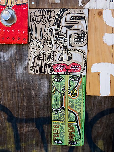 collaborative art installation, west oakland graffiti art, empty lot 32nd street