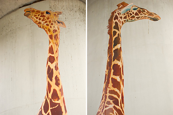 giraffe paintings, oakland public art