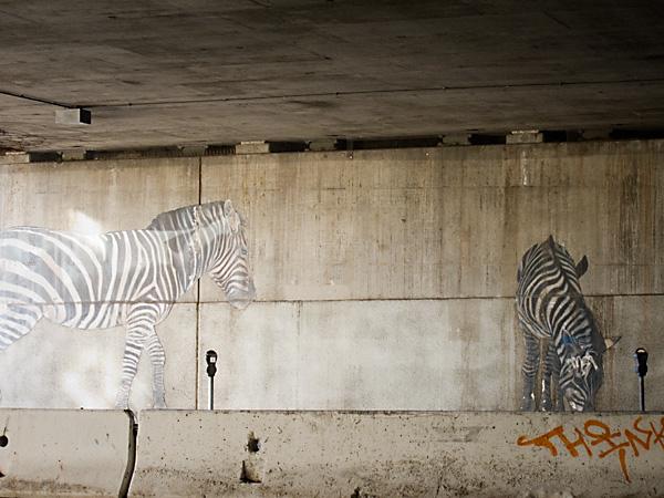 Zebra Murals Oakland, Oakland Freeway Murals