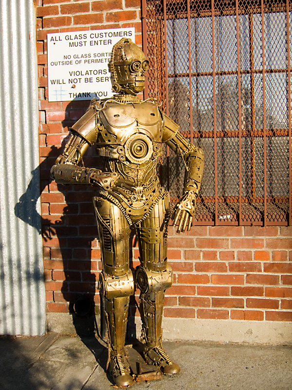 scrap metals sculpture, west oakland metal sculptures, alliance metals