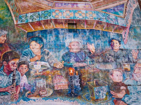 downtown oakland murals, oaksterdam  mural, 14th & franklin mural
