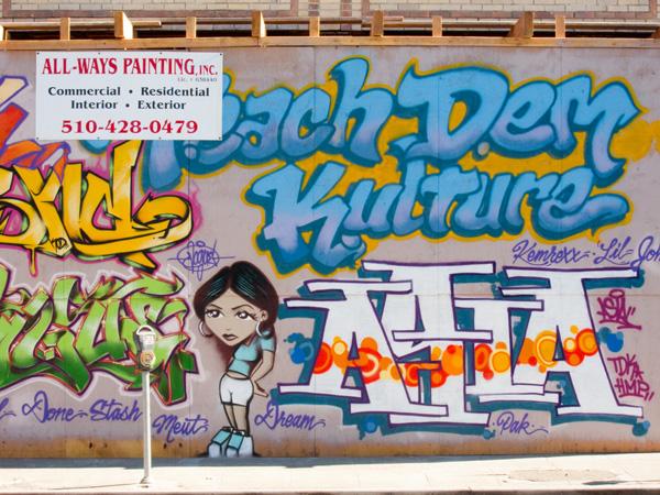 oakland graffiti art, oakland graffiti mural, MLK mural oakland