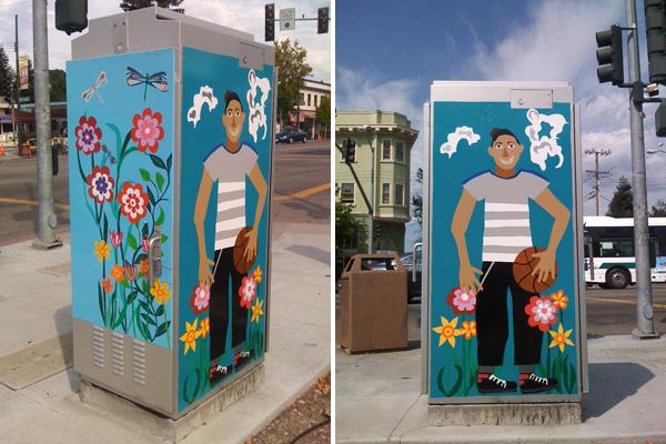 oakland utility boxes, temescal public art