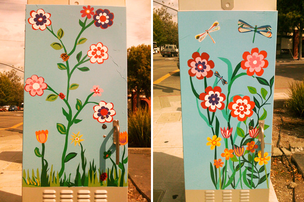 Oakland Traffic Signal Boxes, Public Art Temescal