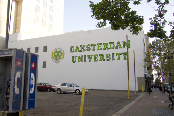 oaksterdam, oakland pot school, new mural for uptown