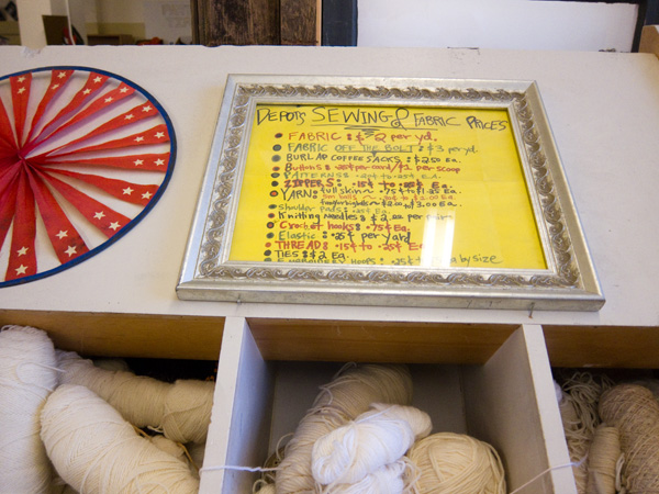 knitting supplies, sewing supplies, fabric supplies