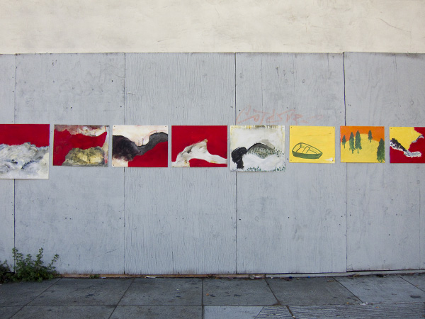 public art installation, anonymous paintings san pablo ave