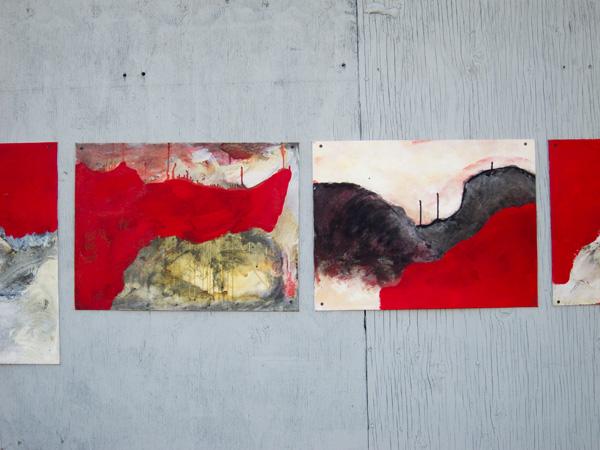 san pablo paintings, guerilla art installation, oakland public art
