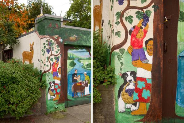 oakland public murals garage door art