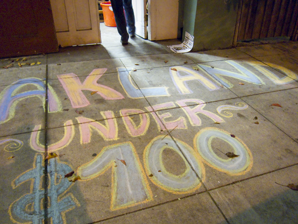 Oakland Under 100, temescal winter art hop