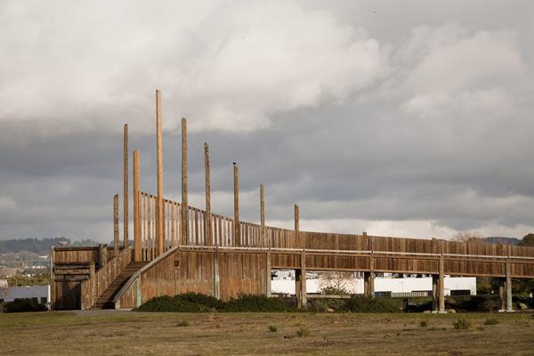 wetland observation tower, observation platform, shoreline observation platform