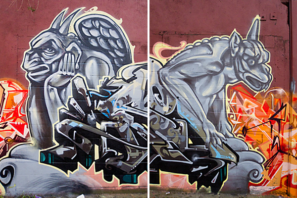 west oakland creatures mural, oakland murals, oakland graffiti art