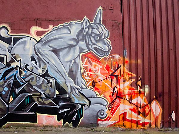 west oakland graffiti art, west oakland creatures mural, 35th street mural