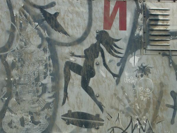 Stencil Truck, truck with stencils, graffiti stencils
