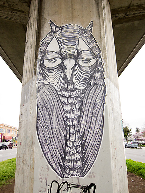 large wheatpaste, bart tracks, oakland graffiti, east bay wheat paste