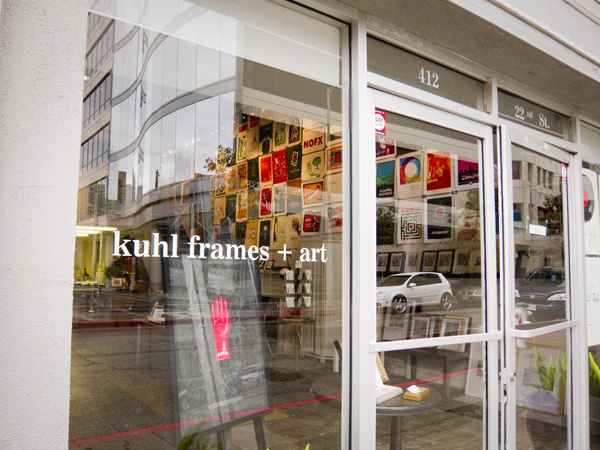 kuhl frames, oakland framing shop, kuhl art gallery, uptown art galleries