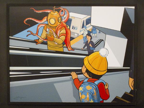 Josh Ellingson, BART poster series, BART art poster ads