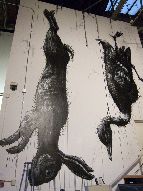 Roa rabbit, ROA bird, MOCA street art