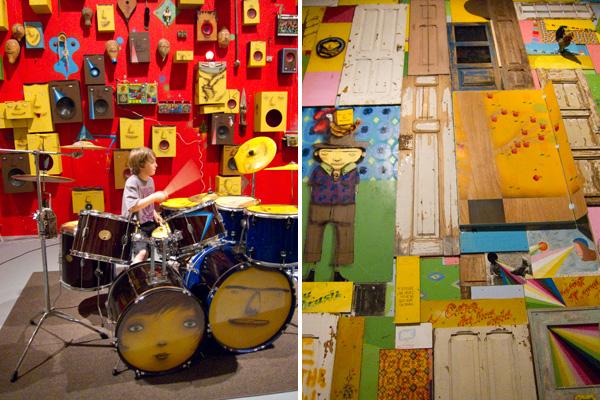 os gemeos installation, os gemeos street art, os gemeos moca