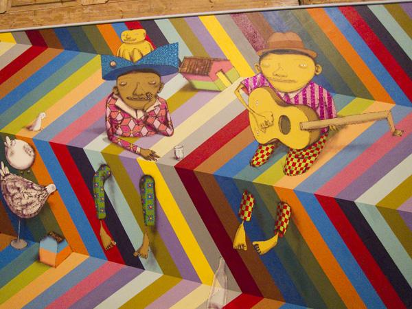 Os Gemeos at MOCA, Os Gemeos LA installation
