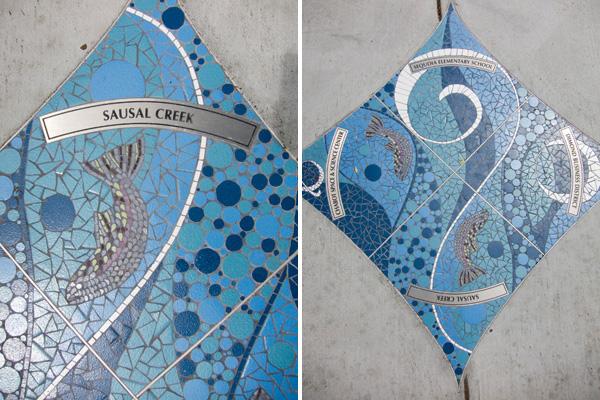 snapshot mosaics, gina dominguez, sausal creek mosaic