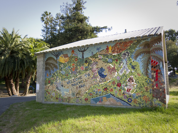 welcome to maxwell park, friends of maxwell park, oakland park mosaics
