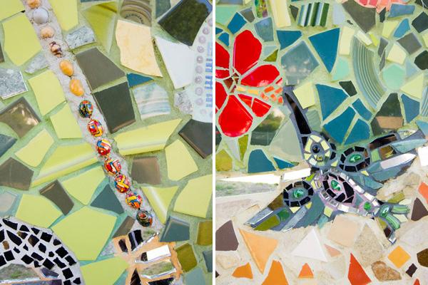 hummingbird mosaic, maxwell park mosaic, oakland public mosaic