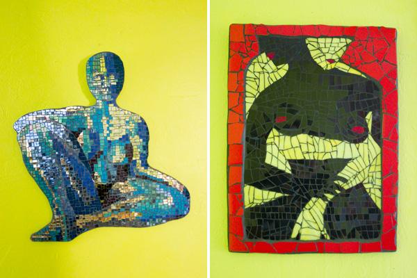 fine art mosaics by kim larson, nudes by kim larson