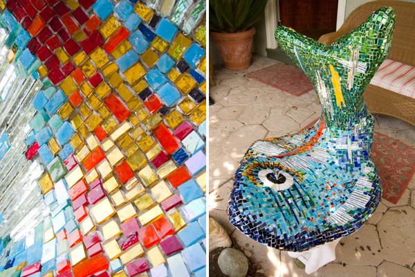 kim larson flounder, kim larson mosaic sculptures