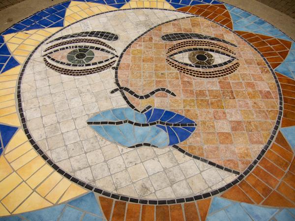 fruitvale village mosaics, large scale stone mosaics
