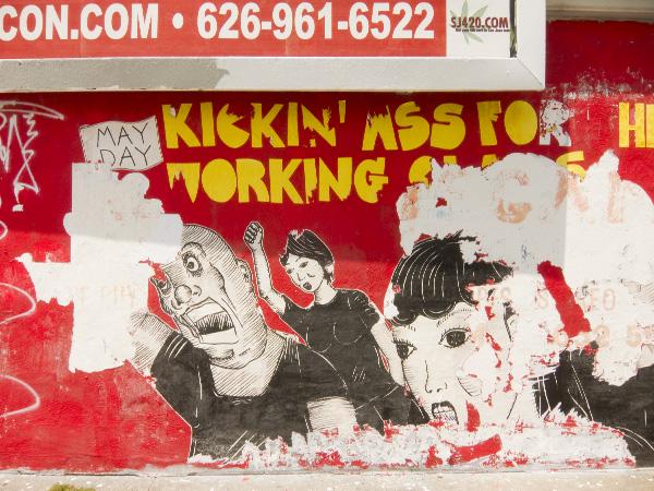 oakland street art, oakland graffiti art, oakland wheatpaste san pablo