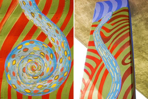24 underpass art, temescal art project, temescal murals, oakland murals