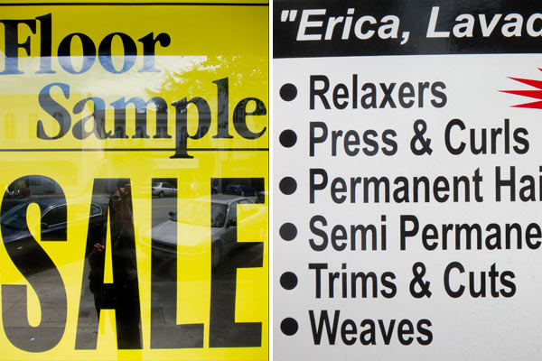 bold text signs