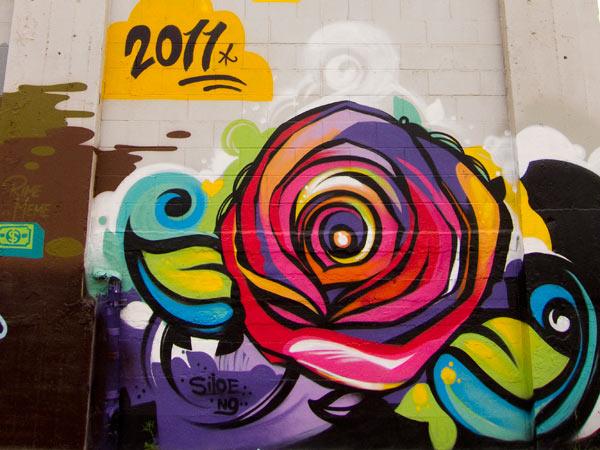 siloe mural, siloette graffiti