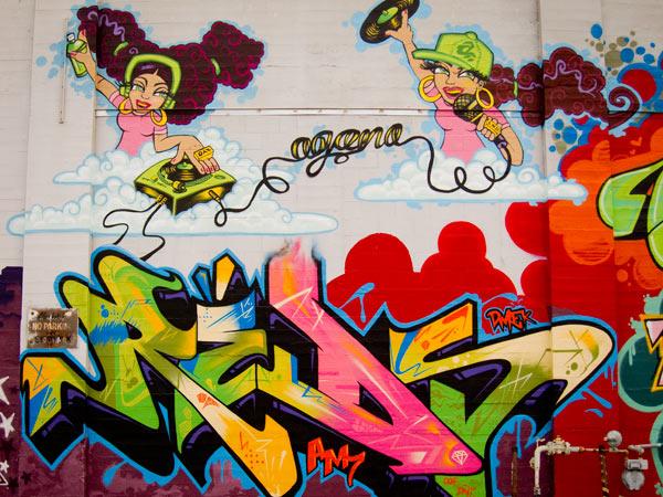 Reds mural oakland, girl graffiti, female graffiti artists