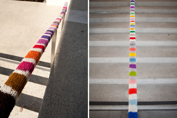 yarnbomb, streetcolor, yarnbomb install at OMCA
