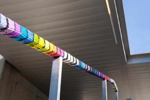 streetcolor, OMCA, yarnbomb, yarnbombing, oakland museum yarnbomb