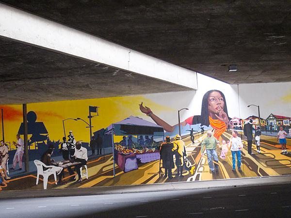 AHC mural, west oakland mural, san pablo mural, super heroes mural