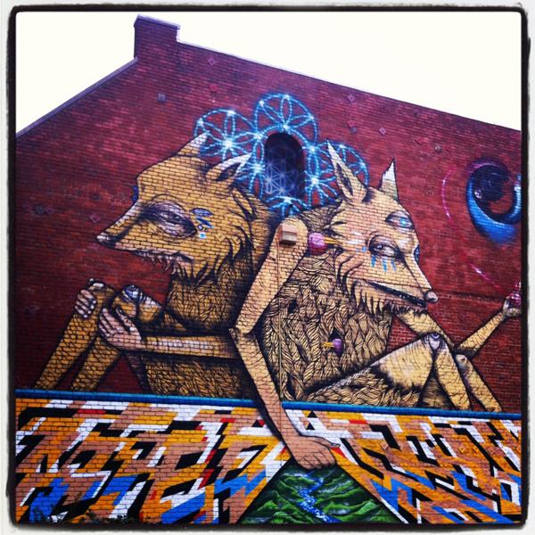 oakland mural art, oakland foxes mural, oaktown graffiti, oakland street art