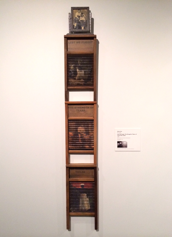 Carrie Mae Weems, washboard installation, washboard sculpture, lest we forget the strength of tears of those who toiled