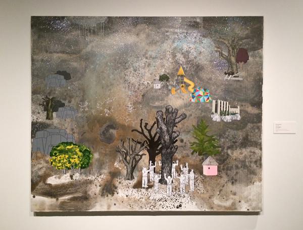 David Huffman, David Huffman painting, tree huggers, traumabots
