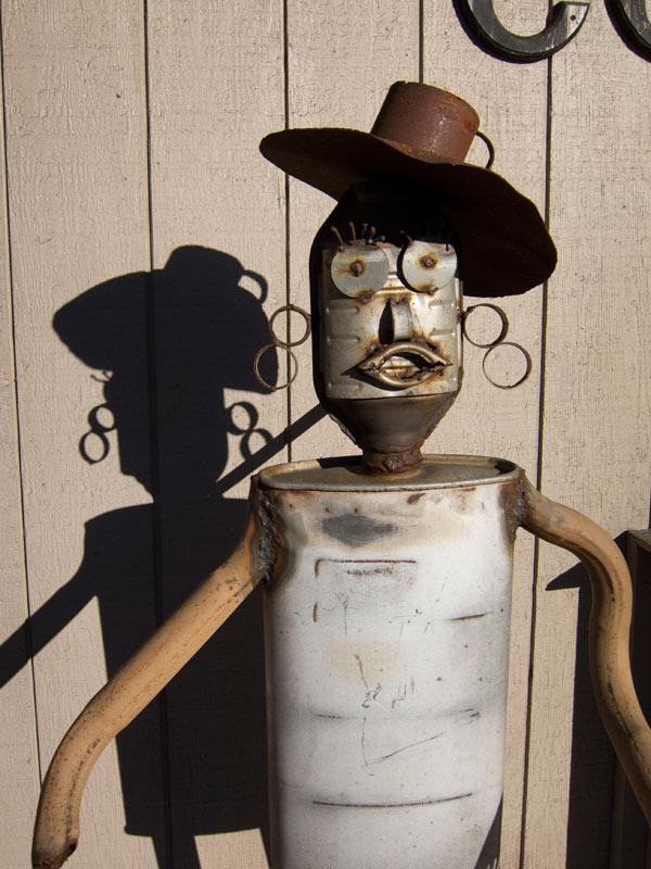Metal Man Sculpture